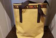 Shoulder Bag with removable insert yellow